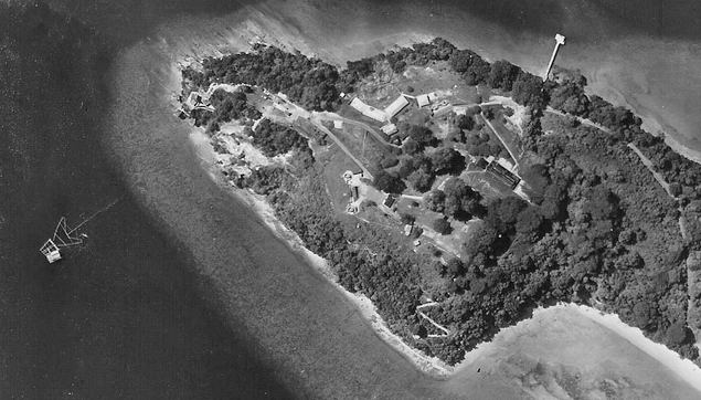 Aerial photo of Fort Siloso